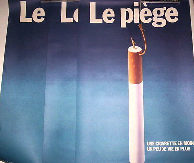 Lot 3 Affiches Vintage Special Propagande Anti Cigarettes
