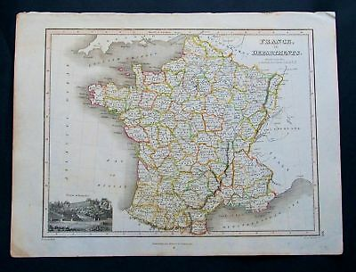 1815 THOMSON. France in Departments, Versailes, Biscay