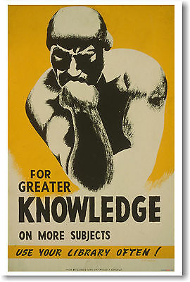 "Read The Books You/'ve Meant To/"" 1941 Vintage Style WPA Poster 20x30 /""March"
