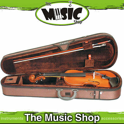 New Stentor Standard 4/4 Full Size Violin with Bow & Case - S1344