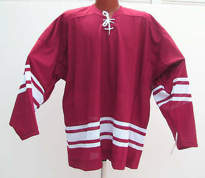 CCM Hockey Jersey Practice Crimson Red lace up 2XL