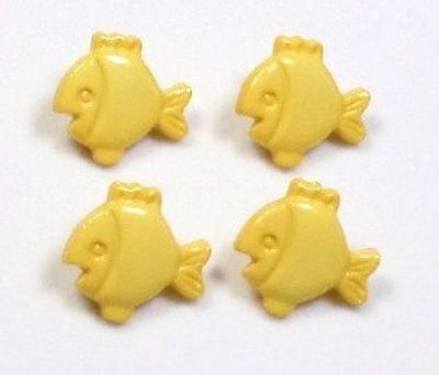 "Six 6 Fish Novelty Buttons Sew​ing Craftin​g 0.75"" 3/4"""
