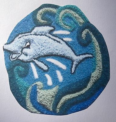 Dolphin Punch Needle Embroidery kit with yarns by Webster's