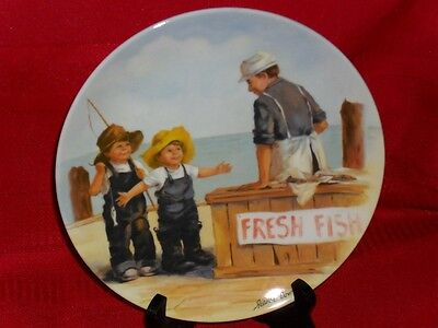 Jeanne Down FISH STORY Friends I Remember PLATE