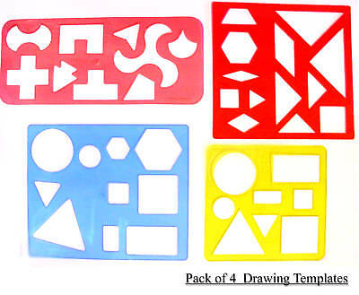 4 x Educational Drawing Templates Learning Resources