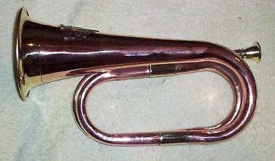 *** Brass / Copper Bugle - New Made With Rising Sun *** Army Style