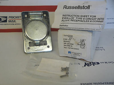 New Russellstoll # 8008 Ever Lok Receptacle # F02883C