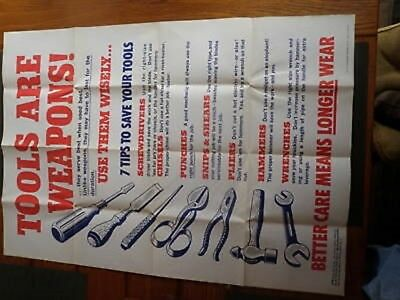 Tools Are Weapons Poster World War 2 II WW2 Labor 1943