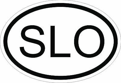 SLO SLOVENIA COUNTRY CODE OVAL STICKER bumper decal car