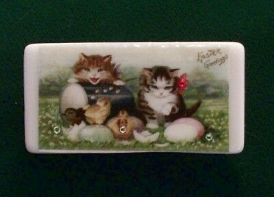 Kittens, Chicks And Eggs, Easter Domino Pin