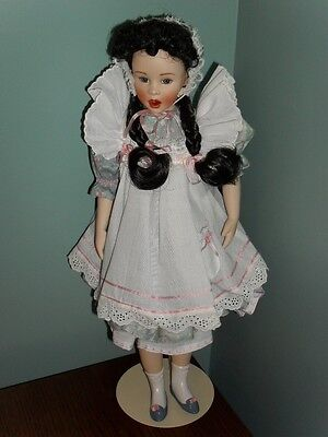 Franklin Mint MARY MARY Quite Contrary PORCELAIN DOLL
