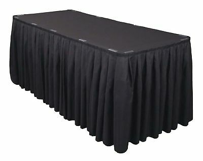 20 Pack 21 ft Polyester Banquet Table Skirting Skirt Wedding Catering Restaurant