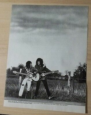 1992 PRINT Ad OVATION GUITARS SEAL + BRIAN MAY QUEEN AD