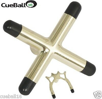 High Quality Pool Snooker Billiards Table Cue Brass Cross & Spider Holder Rests