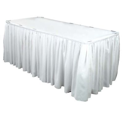 (6) 17 ft Polyester Banquet Table Skirting Skirt 3 CLR