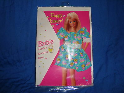 Vintage Barbie Fashion greeting Easter Card W/Dress