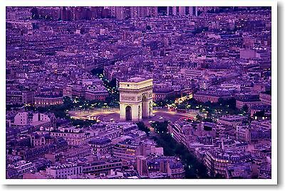 Arc de Triomphe Paris, France - Travel Print POSTER