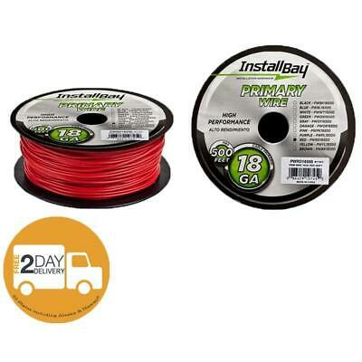 The Install Bay by Metra PWRD18500 Red Coil 18 Gauge 500' Feet Primary Wire
