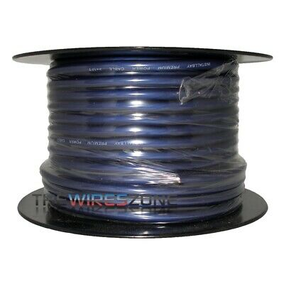 The Install Bay by Metra IBPC04-125 Blue 4 Gauge 125' Feet Coil Power Cable Wire