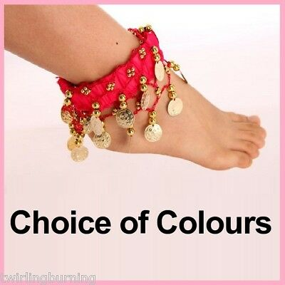 1 Pair Coin Anklets Bracelets Belly Dancing Bollywood AA22