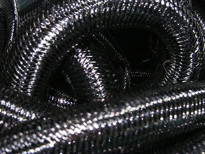 Black Metallic Tubular Crin Cyberlox