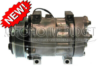 A/C Compressor w/Clutch for Sanden 4085, 4494, 4757 - NEW