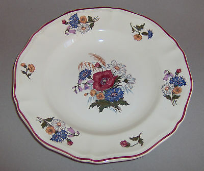 ASSIETTE CREUSE CERAMIQUE SARREGUEMINES AGRESTE 1970's