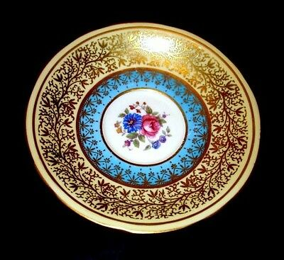 Aynsley Blue & Cream Floral Saucer Only
