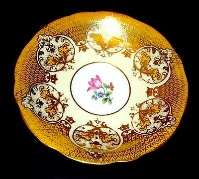 Aynsley Yellow & Gold Saucer Only