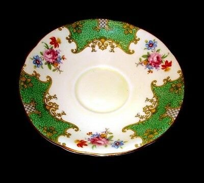Aynsley Green & Floral Saucer Only