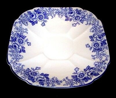 Shelley Square Blue Border Saucer Only