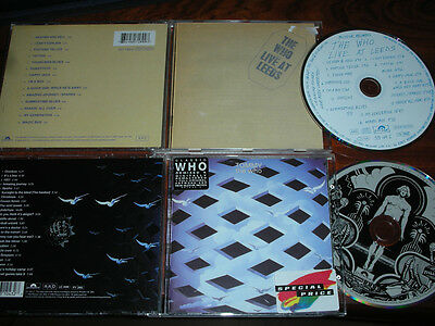 2 CD THE WHO tommy 24 titres 1996 + LIVE concert AT LEEDS 14 titres 1995