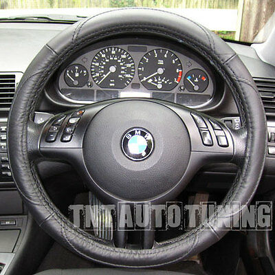 LEATHER Steering Wheel Cover BMW 1 6 X3 X5 Z3 Z4 E30 M3