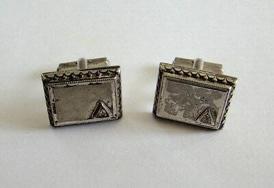 Sterling Silver Square Vintage Cufflinks 925