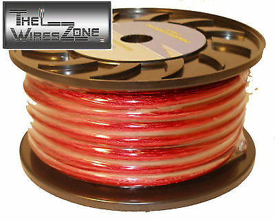 Bullz Audio BPP8.200R Red 8 Gauge 200' Feet Car Audio Power Wire Cable