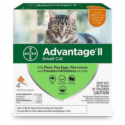Advantage II for Cats 5-9 lbs 4pk (4 Month Supply) Genuine EPA Approved for USA