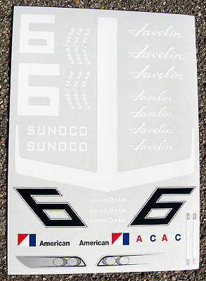 RC 10th scale 'AMC Javelin Trans Am' decals stickers