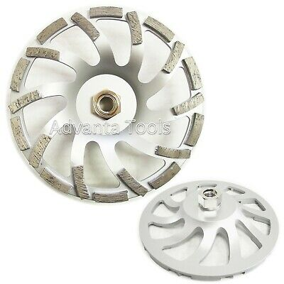 "7"" Premium Turbo Fan Cup Wheel for Concrete 5/8""-11 Threads 30/40 Grit"