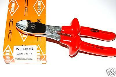 Knipex Williams Snap-on insulated Diagonal Pliers NEW