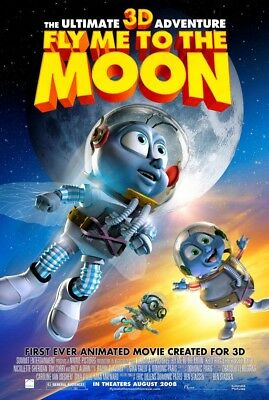 FLY ME TO THE MOON MOVIE POSTER 2 Sided ORIGINAL 27x40