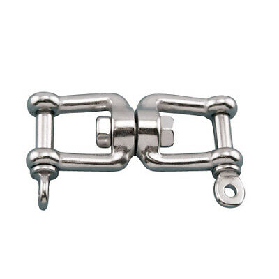 "3//8/"" 316 Stainless Steel Boat Anchor Connector Swivel Jaw Jaw WLL 1,870 lb"