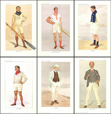 Rowers  -  Beautiful  Set  Of  6  Rowers  Of  Vanity  Fair  Prints   ( Repro's )