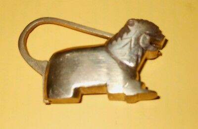 Nepal Brass LionLock with tail as loop rare Unique