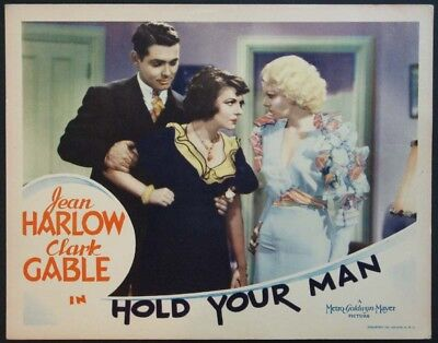 Hold Your Man Pre-Code Jean Harlow Clark Gable 1933 Lc