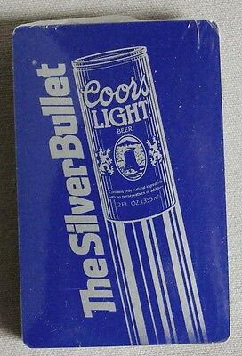 Vintage Coors Light The Silver Bullet Playing Cards Factory Sealed
