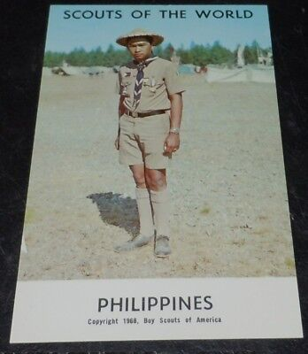 1968 Postcard Boy Scouts of The World - Philippines