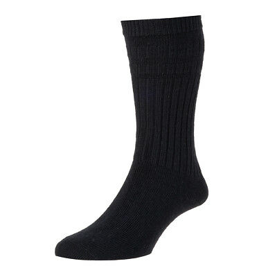 HJ Hall Softop Thermal wool rich Mens Socks 6-13 non-elastic HJ95 no pattern