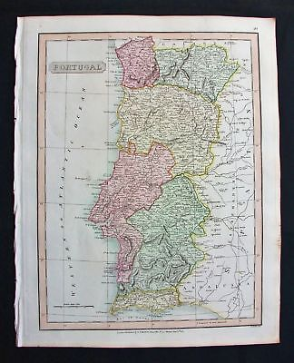 1820 SMITH Folio Atlas Major: Portugal, Lisboa, Leiria