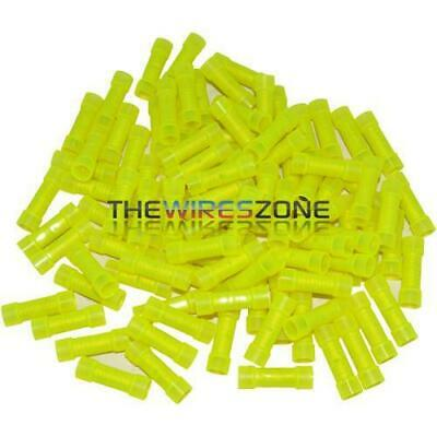 The Install Bay by Metra YNBC Yellow Nylon 10/12 Gauge Butt Connectors 100 Pack