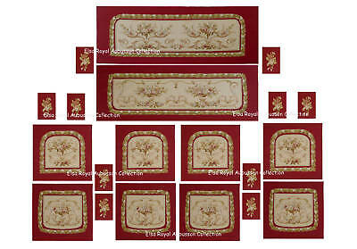 20pcs Handwoven French Aubusson Upholstery Salon Suit
